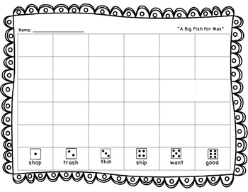 """Roll, Read, and Write! Scott Foresman 2.1 """"A Big Fish for Max"""""""