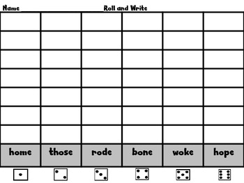 Roll, Read, and Write! Scott Foresman Unit 2 BUNDLE