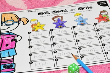 Roll, Read, and Write Small Group Game {CCVC, CVCC, and CCVCC Words Edition}