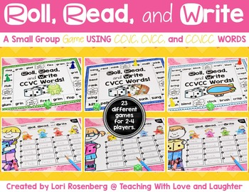 Roll, Read, and Write Small Group Game {CCVC, CVCC, and CC