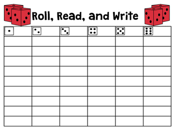 Roll, Read, and Write Spelling/Sight Words