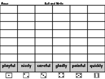 Roll, Read, and Write Unit 4 Week 6 Scott Foresman Suffixes -ly and -ful