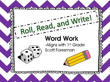 Roll, Read, and Write! WORD WORK Scott Foresman Unit 1 short u