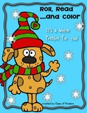 Roll, Read and Color Winter Freebie {Math Kindergarten}