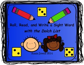 Roll, Read, and Write a Sight Word with the Dolch List