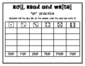 McGraw Hill Wonders Kindergarten  {Roll,Read and Write! activities}