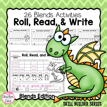 Blends - Roll, Read, and Write with Dice