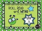 Roll, Read, and Write McGraw Hill Wonders Grade 1 Unit 3