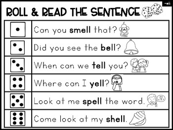 Double Consonants Phonics Center:  Roll & Read the Sentence