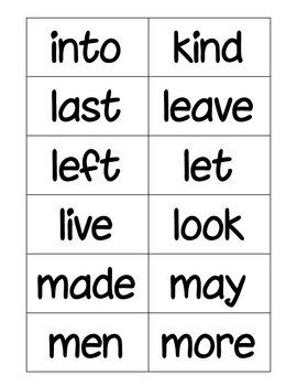 Roll, Read...Keep Game--Second 100 Fry Words