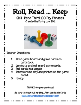 Roll, Read...Keep Game--Third 100 Fry Phrases