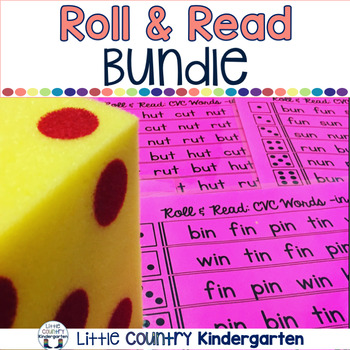 Roll & Reads Bundle: Letters, CVC Words, Sight Words & More