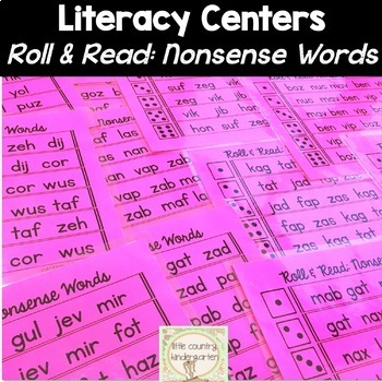Roll & Reads: Nonsense Words