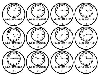 Roll & Recite: Telling Time