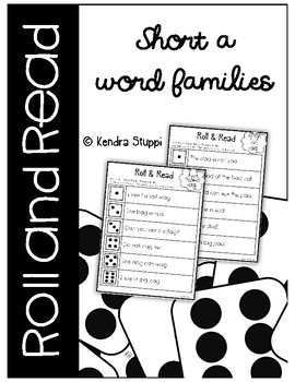 Roll & Read {Short A Word Families}