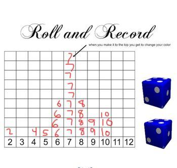 Roll & Record Smartboard Activity