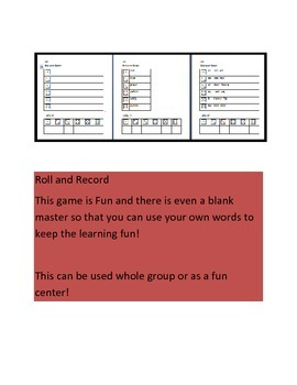 Roll Record and Tally to learn new words