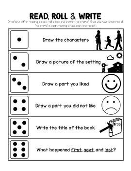 Roll & Retell Reading Response Activity