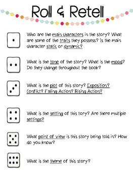 Roll & Retell--Story Elements