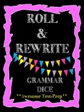 Roll & Rewrite Grammar Cubes-Subject Verb Agreement, Comma