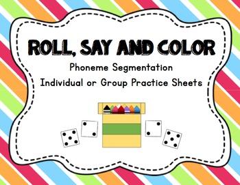Literacy Station: Roll, Say, Color (Phoneme Segmentation P