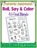 Roll, Say & Color { final consonant blends phonemic awareness printable}