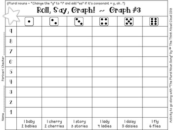Roll, Say, Graph! Literacy and Math - Just print and you're all set!