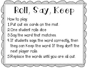Roll, Say, Keep