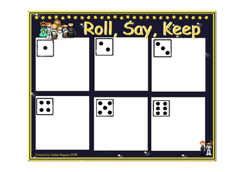 Roll Say Keep: Addition and Subtraction within 20 (Star Wars Themed)