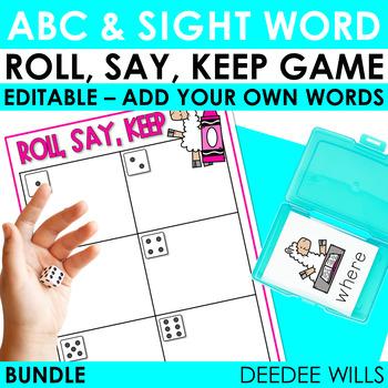 Roll, Say, Keep Editable Sight Word BUNDLE