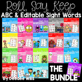 Roll, Say, Keep Editable Sight Word BUNDLE