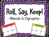 Roll, Say, Keep - Blends and Digraph Game