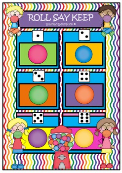 Roll Say Keep Bubble Gum Dolch Third Grade Word Set