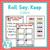 Roll, Say, Keep: Colors