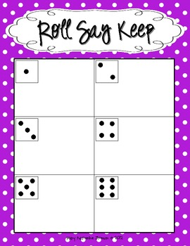 Roll Say Keep {Dolch Sight Word Phrases from List 1}