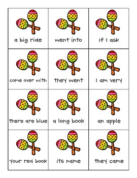Roll Say Keep {Dolch Sight Word Phrases from List 4}