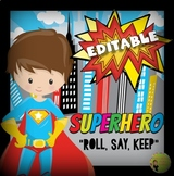 Roll, Say, Keep: Superhero Theme Editable