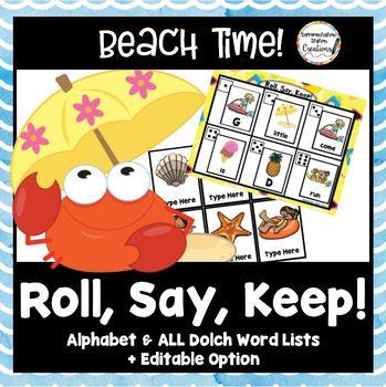 Roll, Say, Keep: Editable