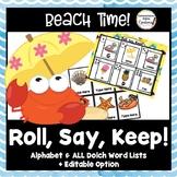 Roll, Say, Keep: Beach Summer Edition, Editable