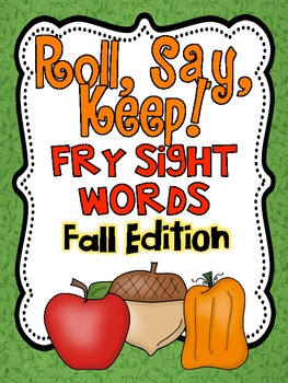 Roll, Say Keep {Fall Fry Sight Words}
