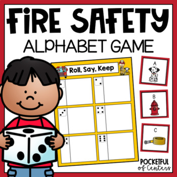 Fire Safety Letters Roll, Say, Keep Game