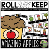 Roll, Say, Keep Game: EDITABLE Apples Edition (Letters & S