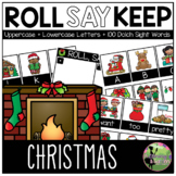 Roll, Say, Keep Game: EDITABLE Christmas Edition (Letters