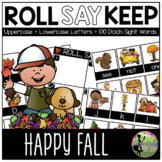 Roll, Say, Keep Game: EDITABLE Fall Edition (Letters & Sig