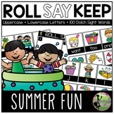 Roll, Say, Keep Game: EDITABLE Summer Fun Edition (Letters