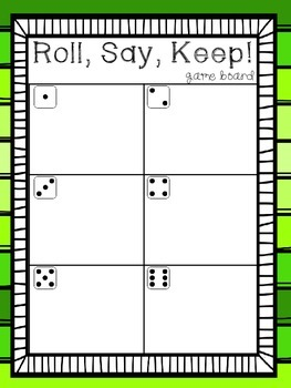 Roll, Say, Keep Games for the Year (Alphabet Identification)
