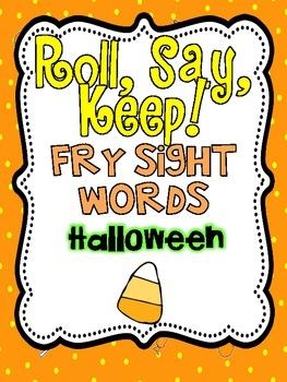 Roll, Say Keep {Halloween Fry Sight Words}