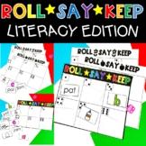 Roll Say Keep Literacy Game Rhyming CVC Words Sight Words