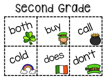 Roll, Say, Keep -- March Second Grade Edition