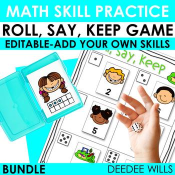 Roll, Say, Keep Math Bundle